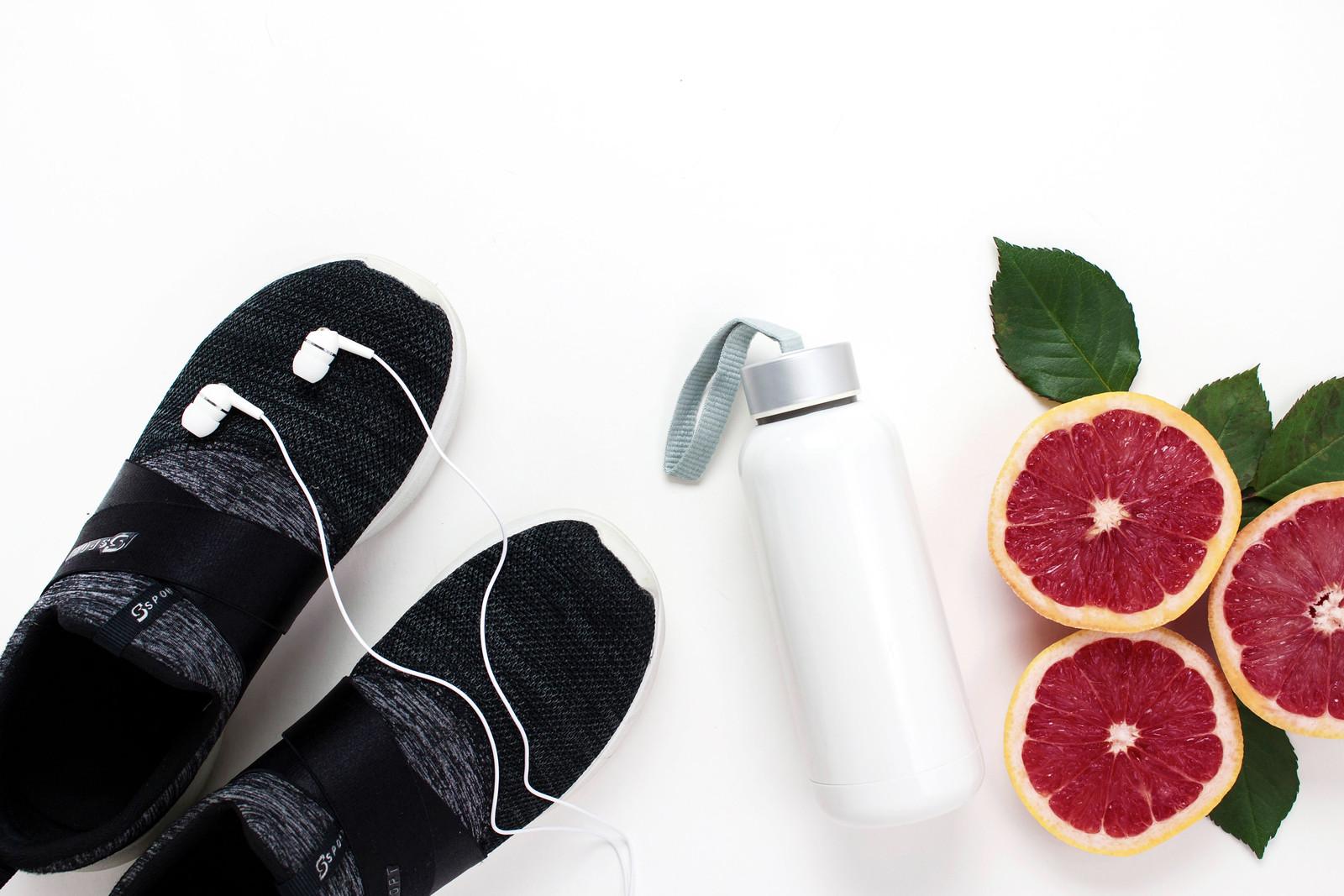 water bottle-footwear-fruits