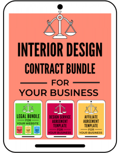 Interior Design Contract Bundle for Your Business