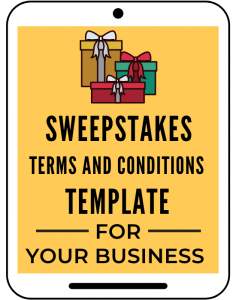 Sweepstakes Terms and Conditions Template for Your Business
