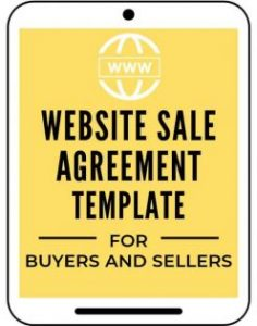 Website Sale Agreement Template for Buyers and Sellers