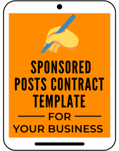Sponsored Posts Contract Template for Your Business