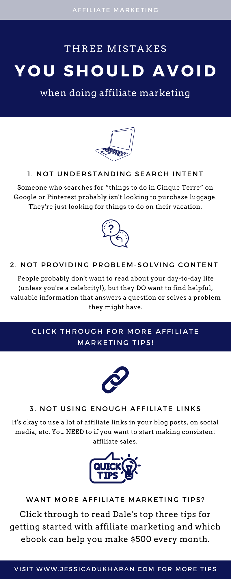 Three Affiliate Marketing Mistakes You Should Avoid