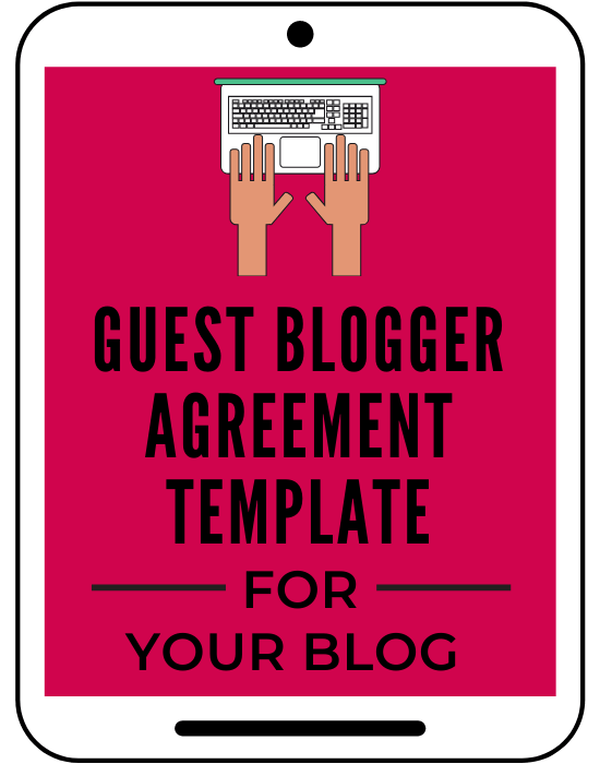 Guest Blogger Agreement Template for Your Blog