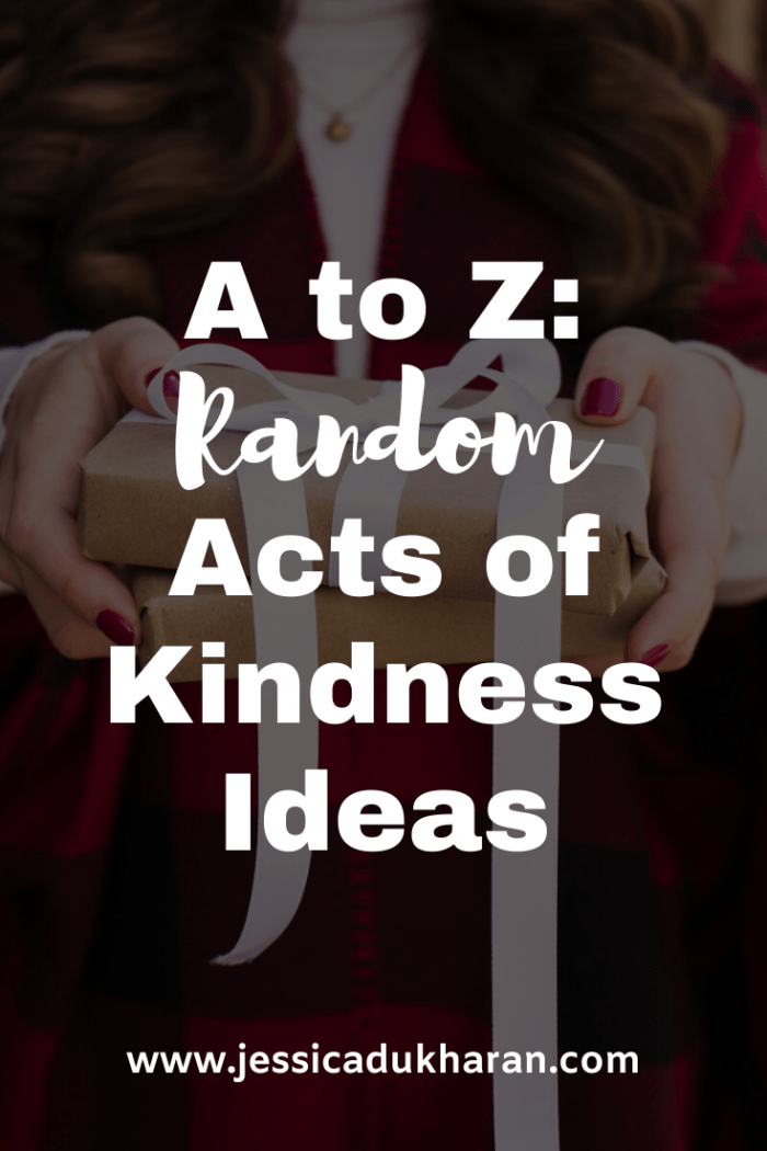 A to Z: Random Acts of Kindness