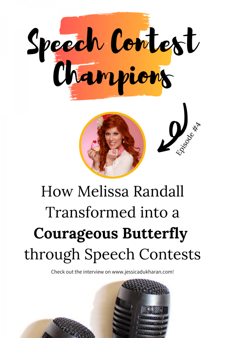 How Melissa Randall Transformed from a Scared Caterpillar to a Courageous Butterfly through Speech Contests