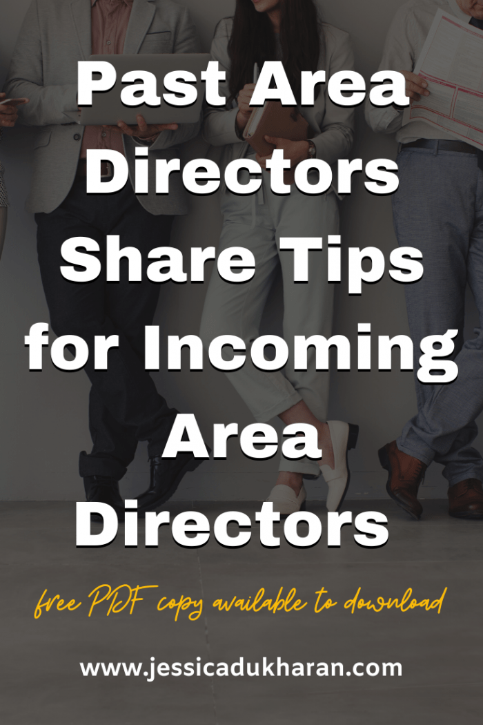 Past Area Directors Share Tips for Incoming Area Directors